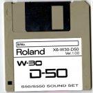 D-50 Sound set for ROLAND W-30 W30