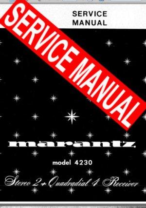 MARANTZ 4230 RECEIVER - SERVICE MANUAL -