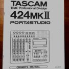 TASCAM PortaSTUDIO 424  MKII OWNERS MANUAL