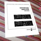 HP  Distortion Analyzer 331A / 332A Service/Op Manual