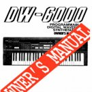 KORG DW-6000 Synth  OWNER'S MANUAL