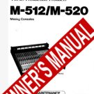 TEAC TASCAM M-512 / M- 520 M512/ M520 ** OWNER'S MANUAL