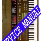 YAMAHA DX1 (DX-1)  * SERVICE MANUAL *