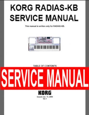 KORG RADIAS-KB   ** SERVICE MANUAL