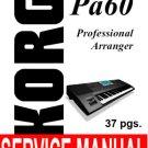 KORG Pa-60  pa60   ** SERVICE MANUAL