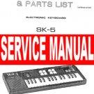 CASIO SK5 SK-5 / CONCERTMATE 650 ** SERVICE Manual