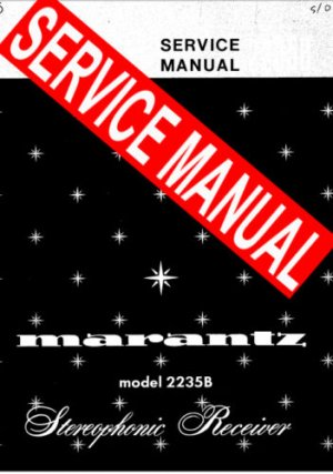 MARANTZ 2238 RECEIVER - SERVICE MANUAL -
