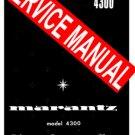 MARANTZ 4300  RECEIVER - SERVICE MANUAL -