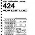 TASCAM PortaSTUDIO 424  * OWNER'S MANUAL *