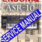 ENSONIQ ASR-10 ASR10 SYNTH SAMPLER  * SERVICE MANUAL *