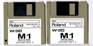 "M1 ""BELLS & Pads"" Sound Set for ROLAND W-30 W30 (2disk)"