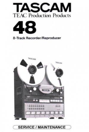 TASCAM 48 Reel ~ Repair / Service MANUAL ~ paper