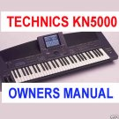 TECHNICS KN-5000 sxKN5000 sx-kn5000 ~ OWNERS  MANUAL -