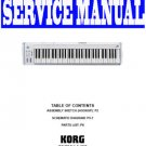KORG  K61 MIDI KEYBOARD ~ REPAIR / SERVICE MANUAL ~