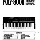 KORG POLY800II Poly-800 II ~ SERVICE  MANUAL *Paper