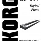 KORG SP-100 SP100 Digital Piano Repair / Service Manual