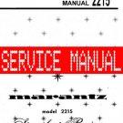 MARANTZ 2215 RECEIVER - SERVICE MANUAL -