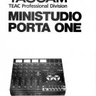 TASCAM Ministudio PORTA ONE - OWNERS MANUAL