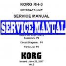 KORG  RH-3 RH3 Digital PIANO ~ REPAIR SERVICE MANUAL
