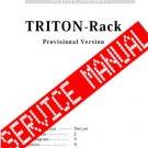 Korg TRITON RACK UNIT    SERVICE MANUAL **