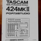 TASCAM PortaSTUDIO 424  MKII -- OWNERS MANUAL !PAPER!