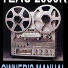 TEAC 2000R Reel-toReel Op Manual -  Paper!