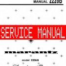 MARANTZ 2226B RECEIVER - SERVICE MANUAL -