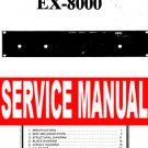 KORG ex-8000 EX8000 rack unit REPAIR / SERVICE MANUAL