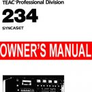 TASCAM SYNCASET 234  * OWNERS MANUAL   Paper