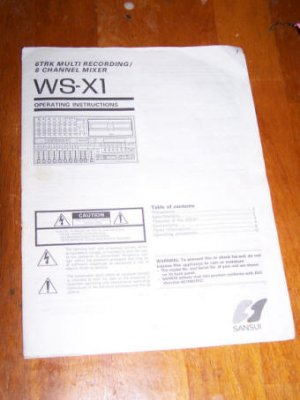 Sansui WS-X1 WSX1 Multitrack ~ Instruction Manual