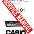 CASIO CZ101 CZ-101 ~ SERVICE MANUAL ~