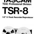 TASCAM TSR-8 TSR8 - Op / Intructions / Owner's manual