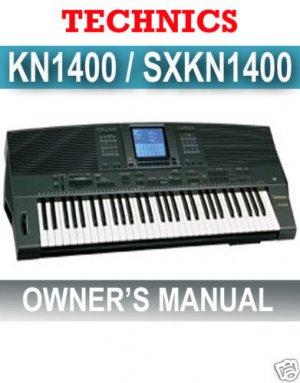 TECHNICS KN-1400 (KN1400) Instruction OWNERS  MANUAL *