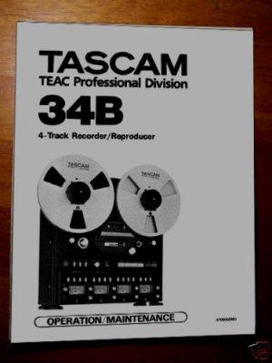 TASCAM 34B Reel Owner's -- Instruction manual * ~PAPER!