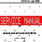 MARANTZ 2216B RECEIVER - SERVICE MANUAL -