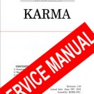KORG KARMA SYNTH REPAIR / SERVICE MANUAL w/schematics