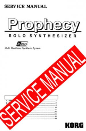 KORG PROPHECY  -= REPAIR / SERVICE MANUAL =-