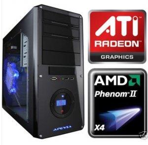 AMD Phenom II 965 3.4Ghz Quad Core Gaming Computer ATI