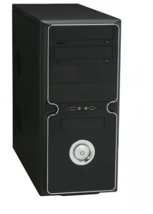 120mm Fan ATX Mid Tower Black Computer Case