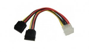 IDE to SATA Power Y-Cables (Splitter) Adapter, 4Pin IDE to 2XSATA