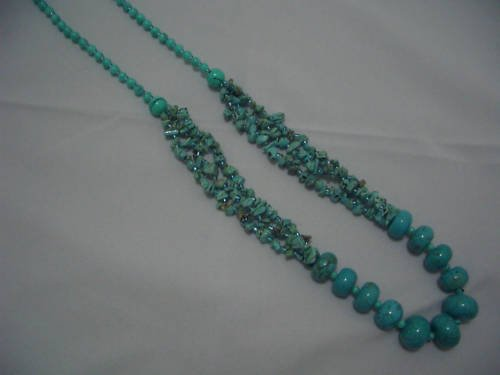 """New Round Howlite Turquoise Beads Necklace 30"""" TN22"""