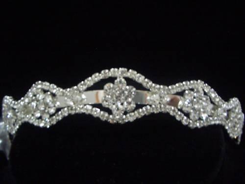 Bridal Wedding Veil Foral Crystal Crown Tiara T13