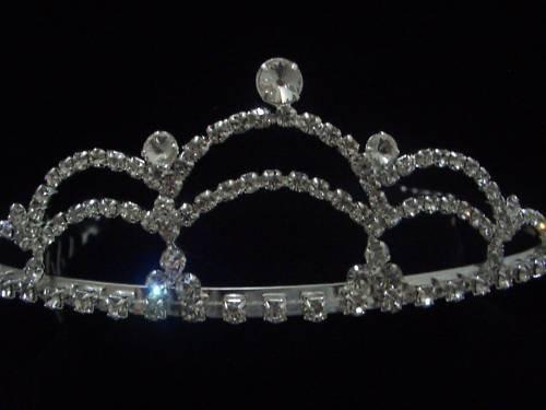 Bridal Wedding Prom Veil Crystal Crown Tiara T10