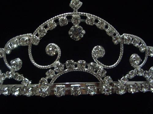 Bridal Wedding Prom Veil Crystal Crown Tiara T09