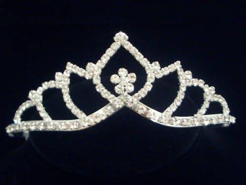 Bridal Tiara Wedding Crown Veil Swarovski Crystal T07
