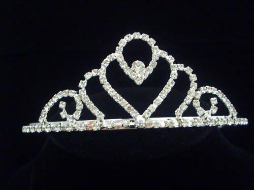 Bridal Tiara Wedding Crown Veil Swarovski Crystal T06