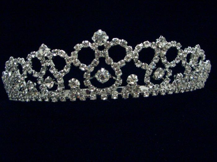 NEW Bridal Wedding Veil Crystal Prom Crown Tiara T24