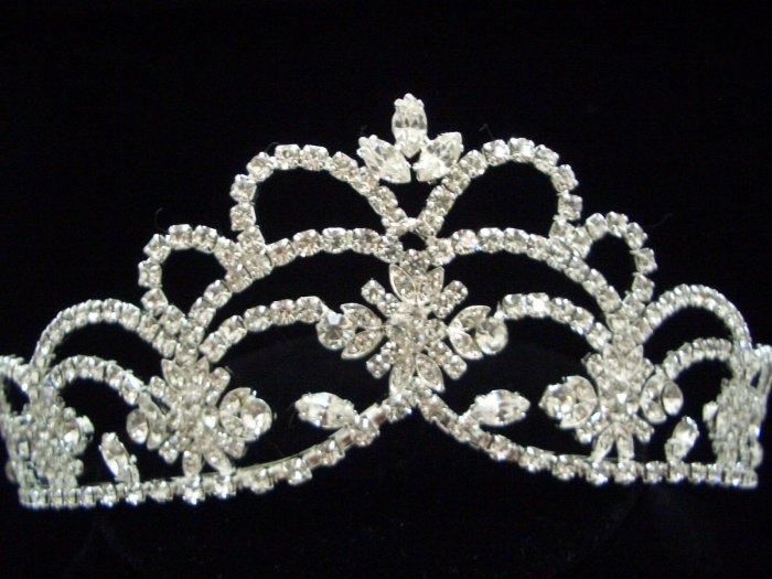 NEW Bridal Wedding Veil Crystal Crown Tiara T34