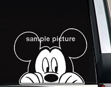 """Mickey Mouse Watching Decal Sticker 9""""L x 10""""W"""