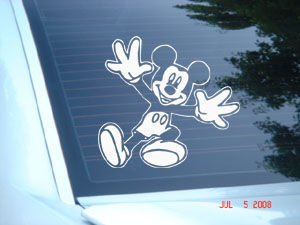 "Mickey Mouse Decal Sticker 7""L"